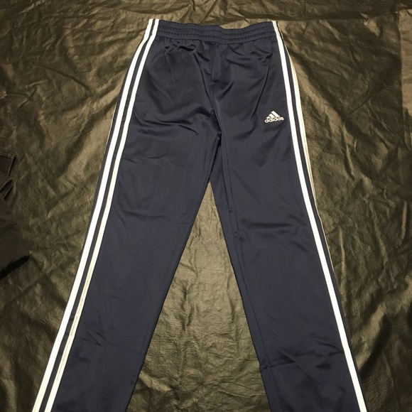 excellent quality info for good Blue Adidas kids fleece lined track pants